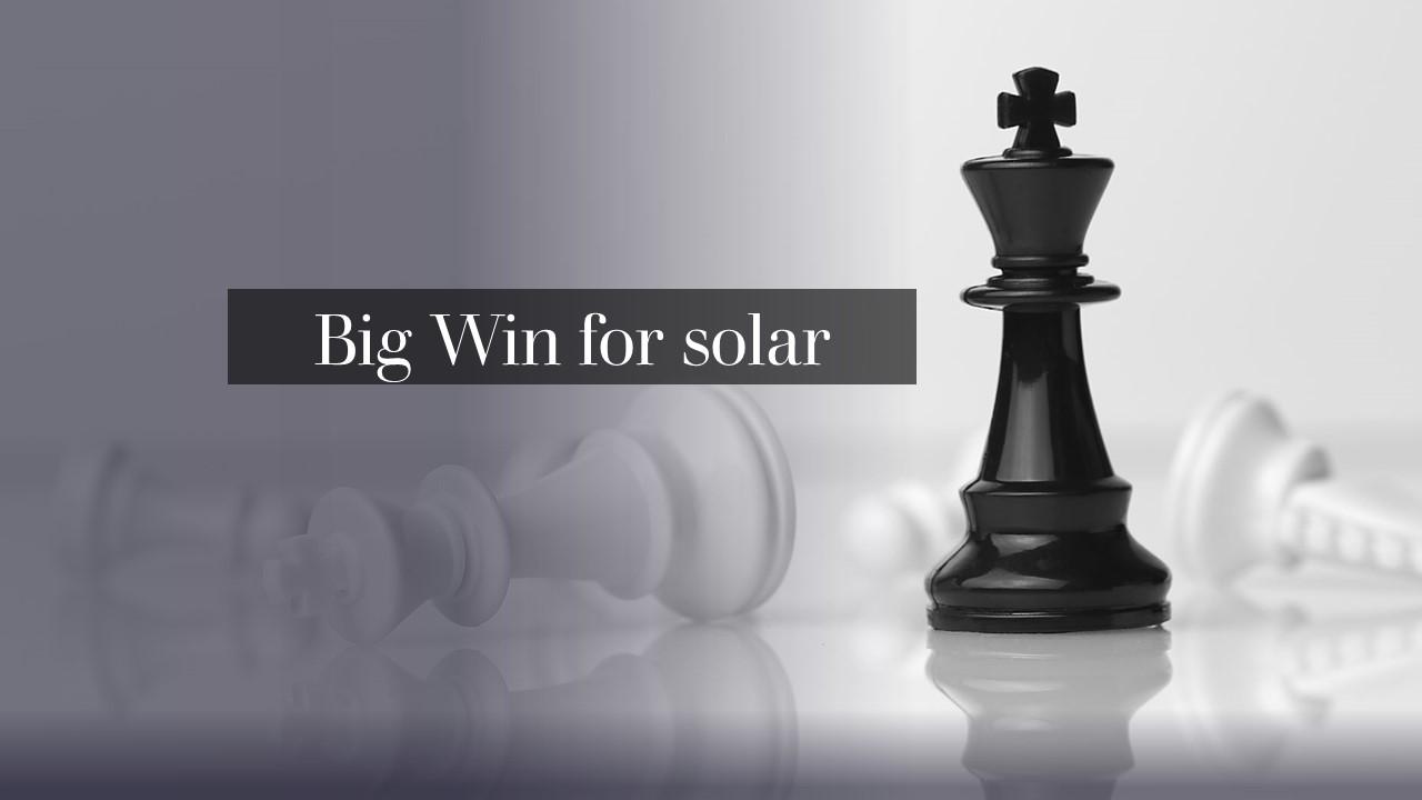 Win For Solar Industry! FERC dismissed net metering Challenge
