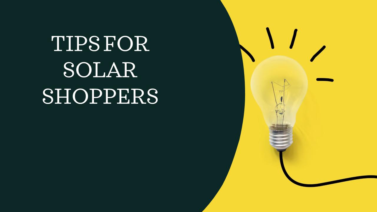 Solar shoppers