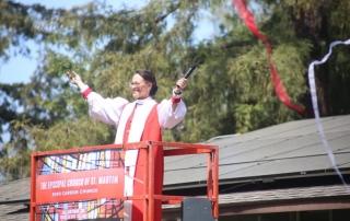 Bishop blessing solar panels