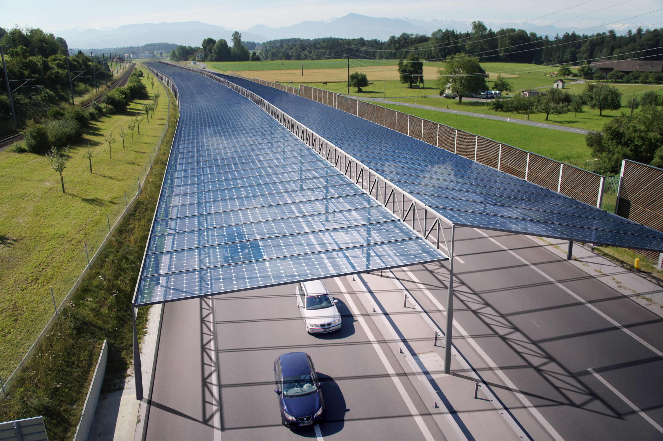 Clean Electricity from Under-Utilized Road Network