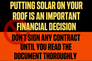 Buy Solar after reading all documents